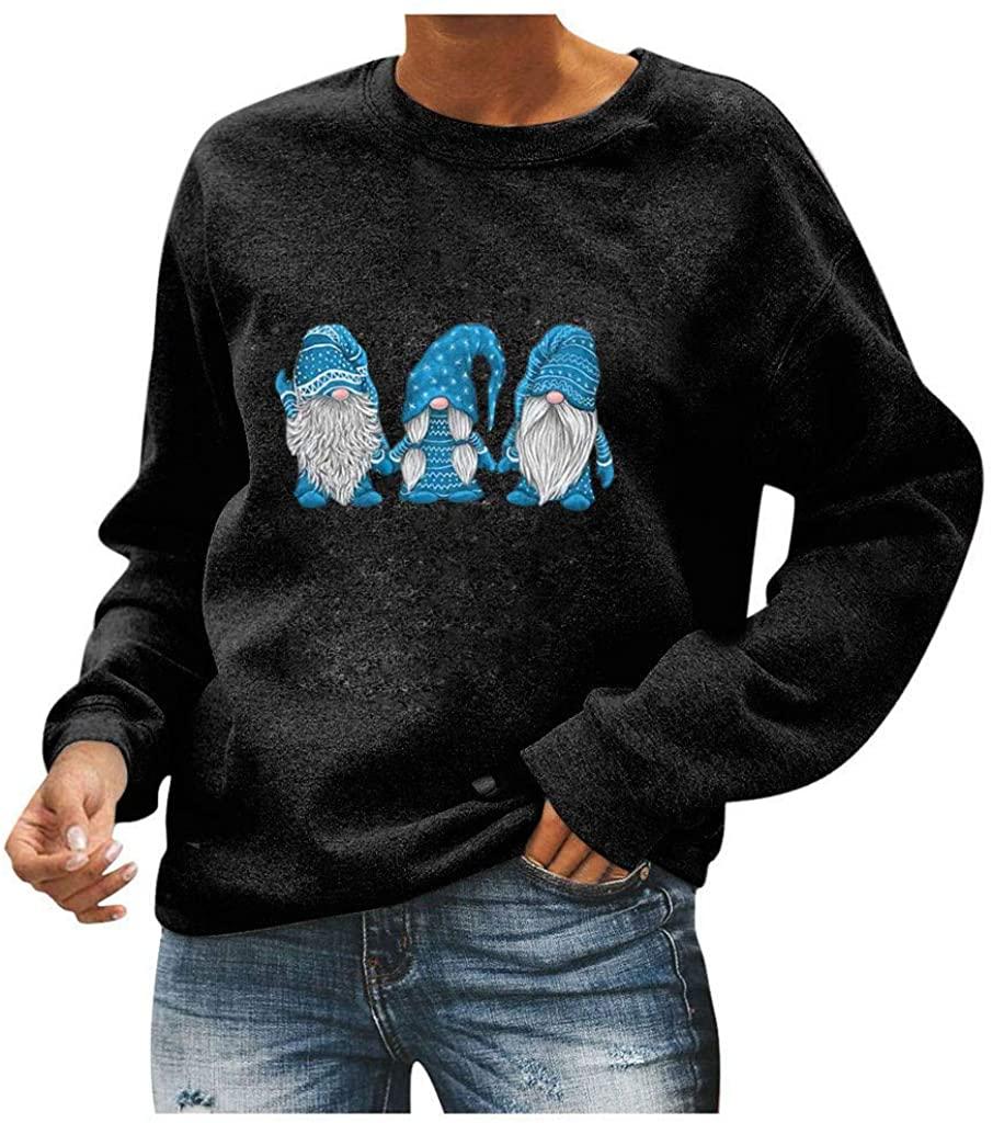 Women's Sequin Patchwork Long Sleeve Pullover Shirts Tops Crewneck Casual Lightweight Sweatshirt Blouses