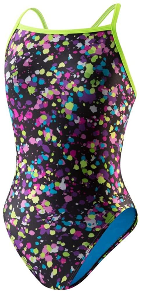 Speedo Women's Flipturns Spectacular Splatter Propel Back Swimsuit (30)