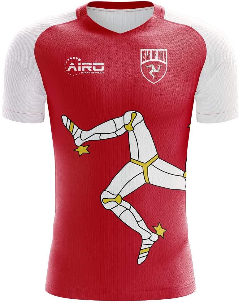 Airosportswear 2020-2021 Isle of Man Home Concept Football Soccer T-Shirt Jersey - Womens