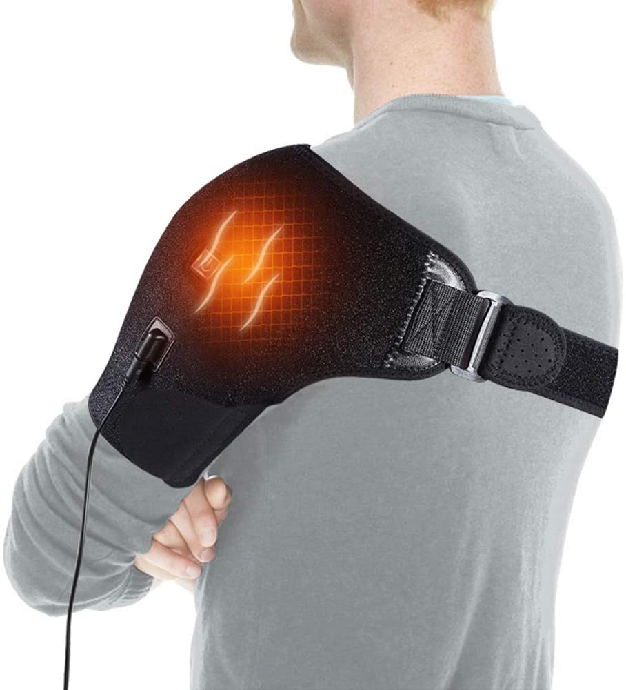 Shoulder Heating Pad, Adjustable Heat Shoulder Brace with Hot and Cold Therapy for Frozen Shoulder, Bursitis, Tendinitis, Paralysis, Strain, Stiff, Soreness Fits Men and Women