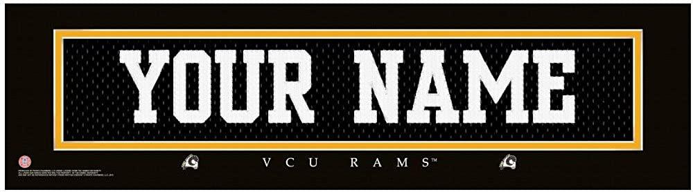 NCAA Jersey Stitch Print VCU Rams Personalized Framed