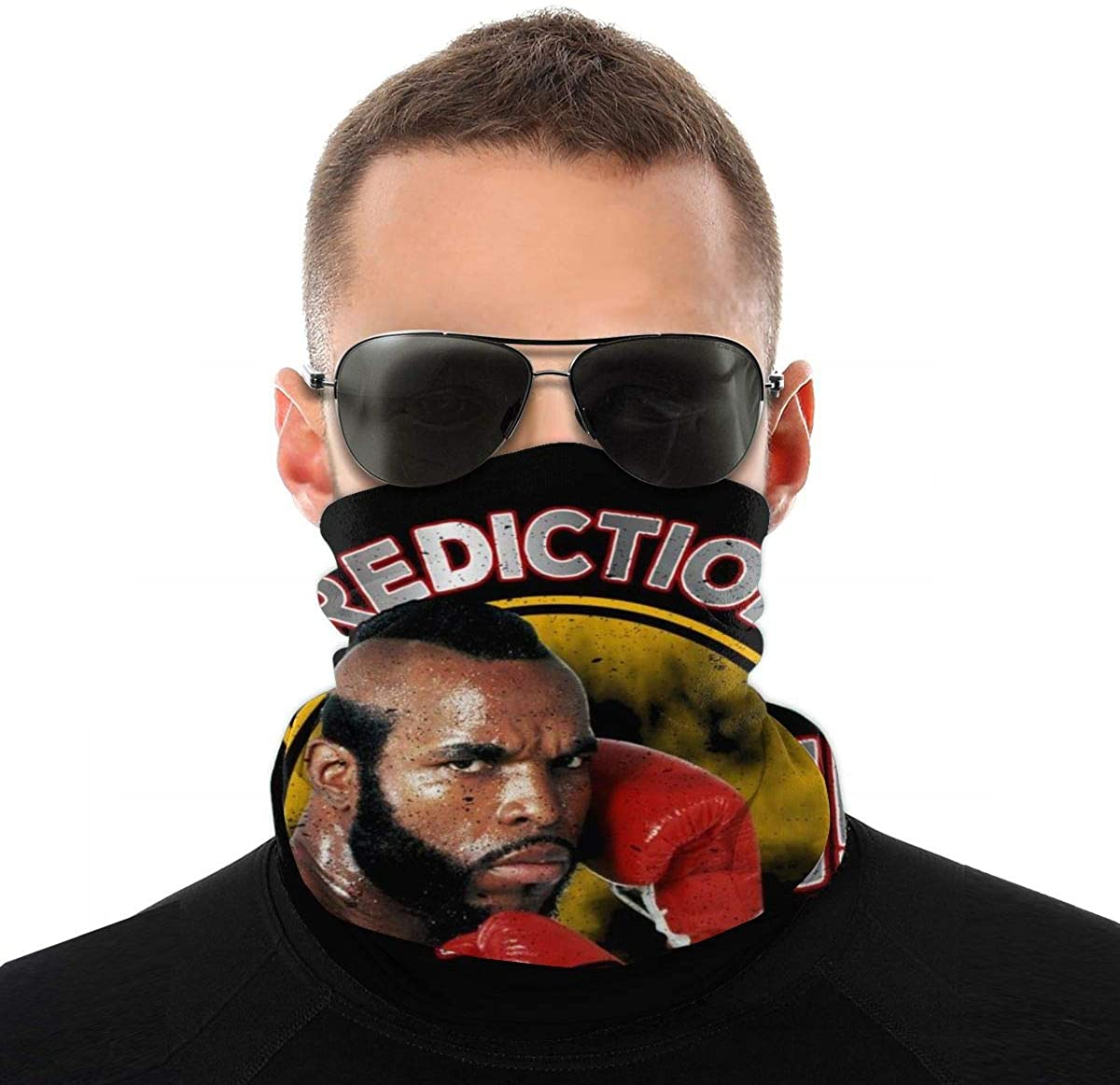 BIZHUDP Rocky Mr T Clubber Lang Prediction Pain Variety Head Scarf Face Mask Magic Headwear Neck Gaiter Face Bandana Scarf
