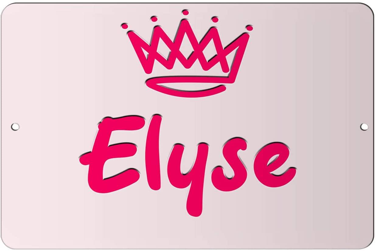 Makoroni - Elyse Girl Female Name 12x18 inc Aluminum Decorative Wall Street Sign