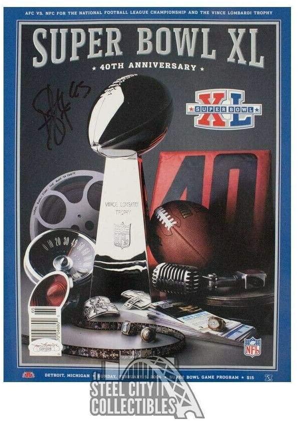 Troy Polamalu Autographed Super Bowl XL Program - COA - JSA Certified - Autographed NFL Magazines