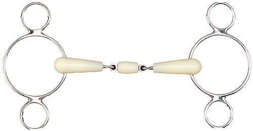 Happy Mouth Double Joint Roller 2-Ring Gag 5.75