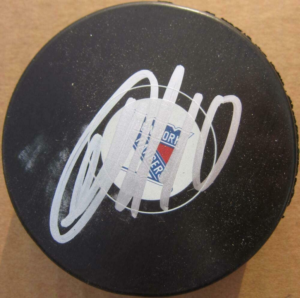 Artemi Panarin Autographed Signed Rangers Hockey Puck Beckett Beckett Authentic Auto