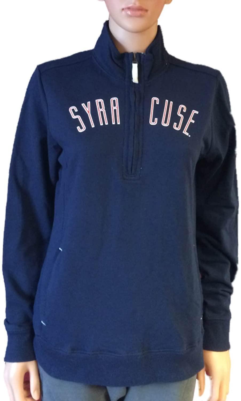 Gear for Sports Syracuse Orange Womens Navy LS 1/4 Zip Pullover Jacket (M)
