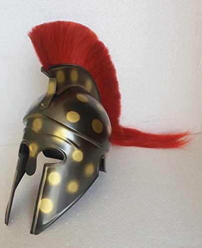 Medieval Reenactment Corinthian Armor Helmet Antique Finish Halloween Corinthian Greek Armor Helmet Replica Armor