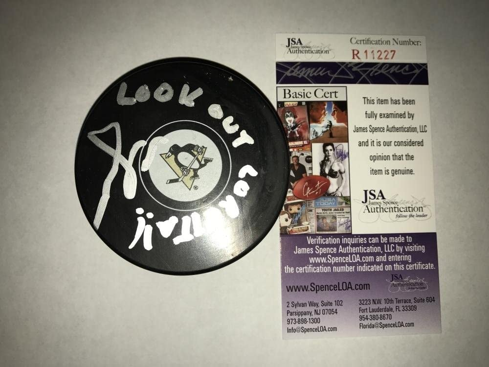 Autographed Scott Wilson (Pittsburgh Penguins) Puck - Mike Lange Look Out Certified - JSA Certified - Autographed NHL Pucks