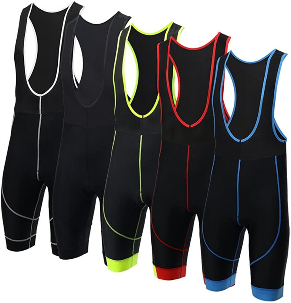 XINTOWN Men's Cycling Shorts 3D Padded Biking Running Sports Athletic Short Tights Bib Pants (Grey, XXXL=US XXL)
