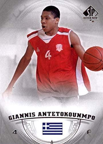 2013-14 Upper Deck SP Authentic - Giannis Antetokounmpo - Milwaukee Bucks Prospect Basketball Rookie Card - RC Card #36