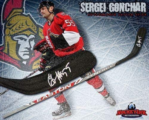 Sergei Gonchar Autographed Stick - Easton Model - Autographed NHL Sticks