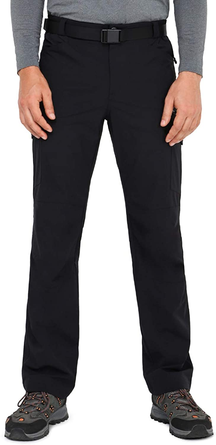 MIER Men's Stretch Hiking Pants Quick Dry Outdoor Cargo Pants, 7 Pockets Lightweight and Water Resistant