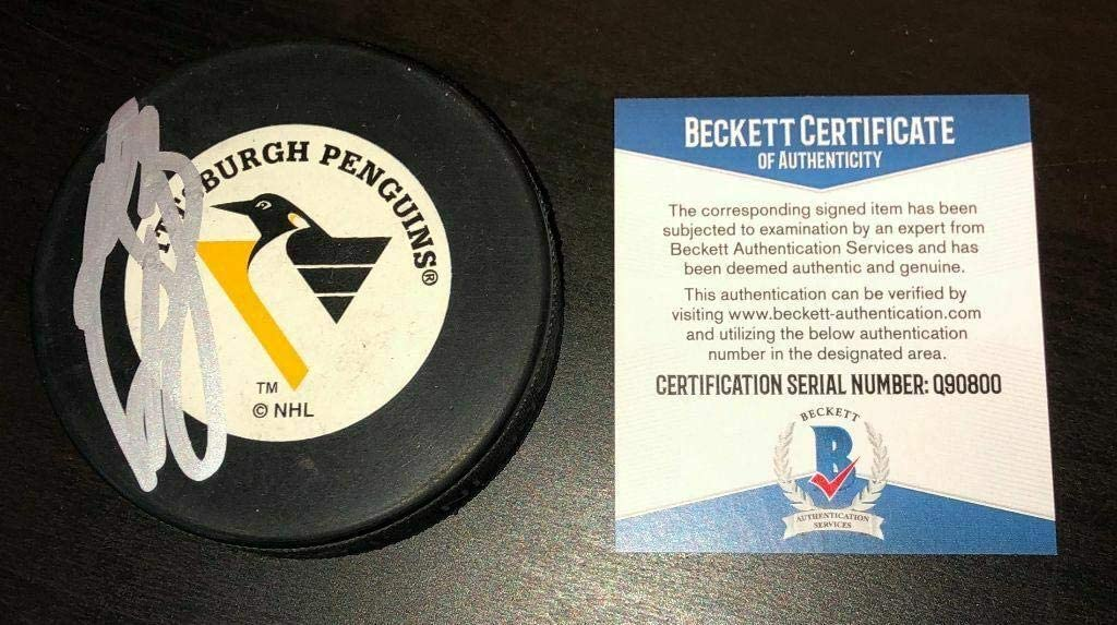 Signed Ron Francis Hockey Puck - Trench Beckett Coa Q90800 - Beckett Authentication