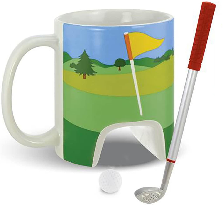 Large 11 Ounce - 3 Piece Golf Mug And Putter Pen Gift Set