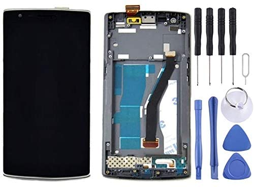 Phone Replacement Parts LCD Display + Touch Panel with Frame for OnePlus One (Black) New Accessories (Color : Black)