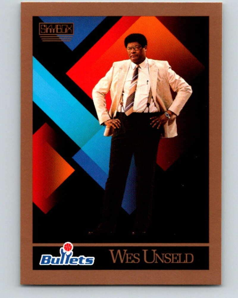 1990-91 SkyBox #327 Wes Unseld CO Mint Basketball NBA Bullets