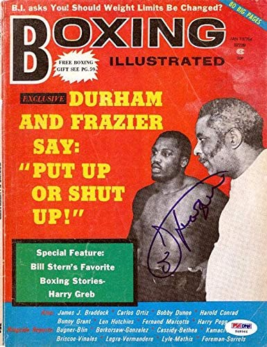 Joe Frazier Autographed Boxing Illustrated Magazine Cover #S48966 - PSA/DNA Certified - Autographed Boxing Magazines