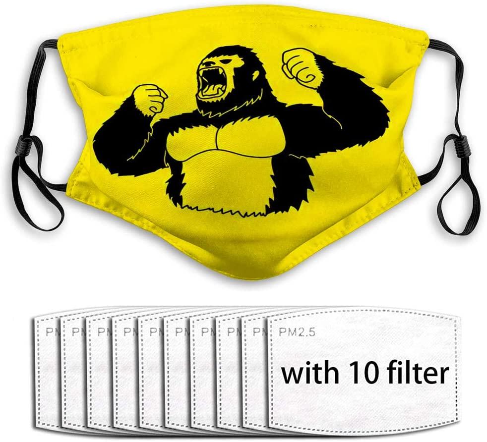 YILINGER Washable Balaclava Resuable Mask (10 Filter) Angry Gorilla