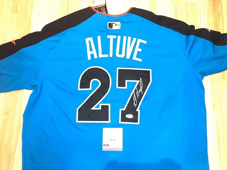 Jose Altuve Signed Jersey - 2017 All Star - PSA/DNA Certified - Autographed MLB Jerseys
