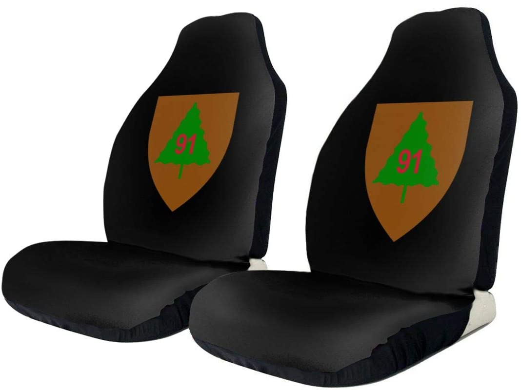KEEDCE&FJE 91st Infantry Division Universal Car Seat Cover Car Seat Covers Protector for Automobile Truck SUV Vehicle