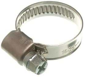 DIRECT HARDWARE 100 X Hose Clamp Jubilee Clip 16Mm - 25Mm Ss Stainless Steel