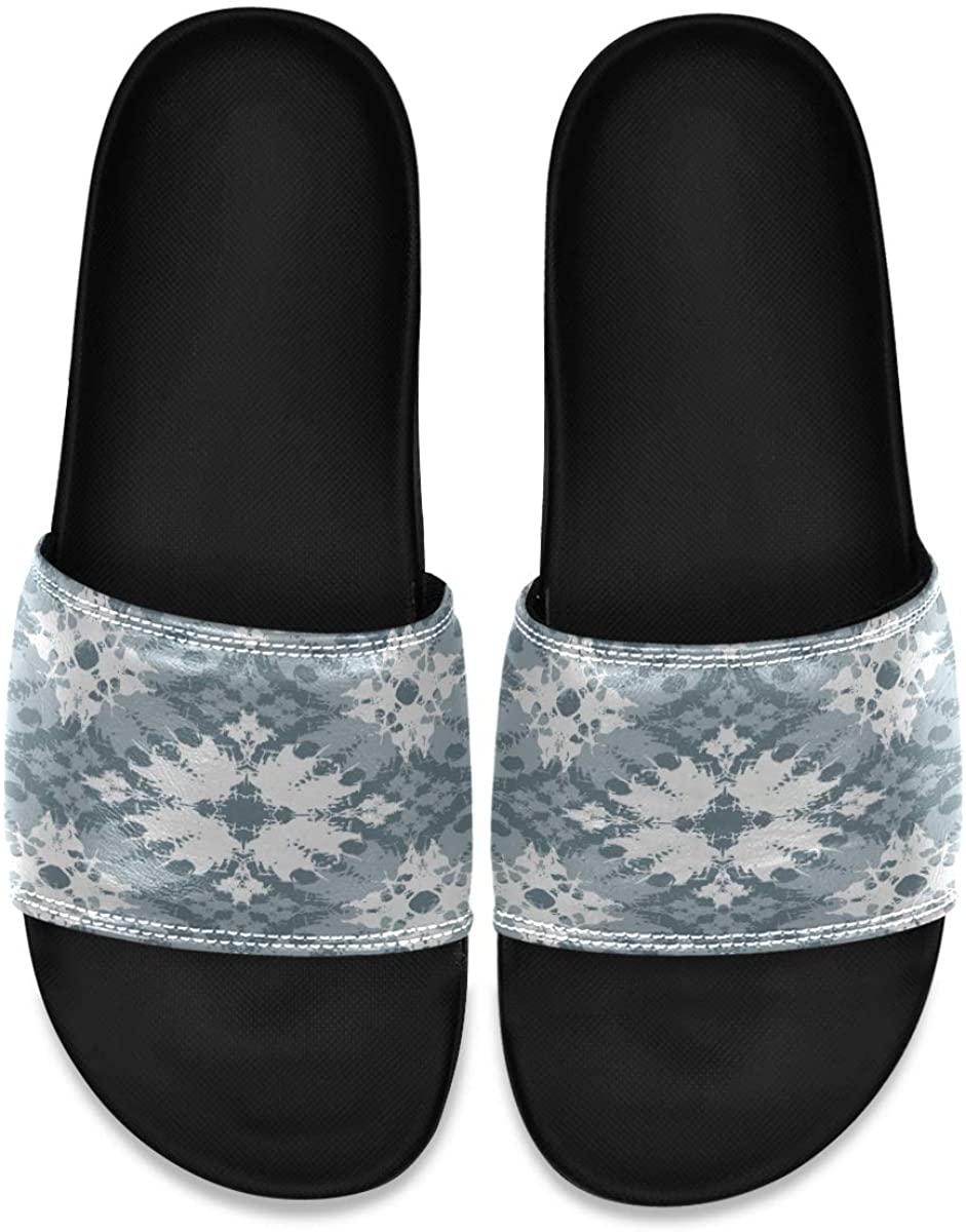 Ladninag Tie Dye Japan Mens House Open Toe Indoor Outdoor Bedroom Slippers Slide Sandals
