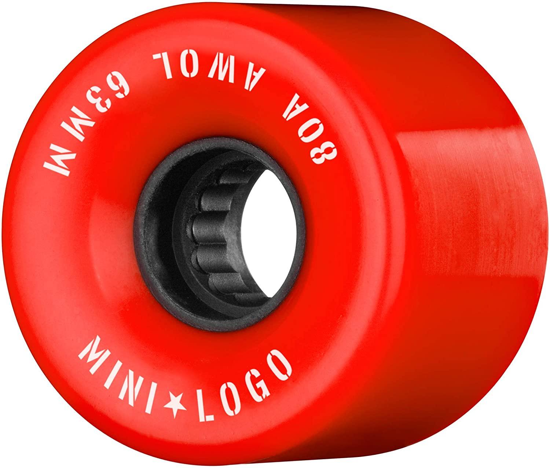 Mini-Logo A.W.O.L 63mm X 80a Red
