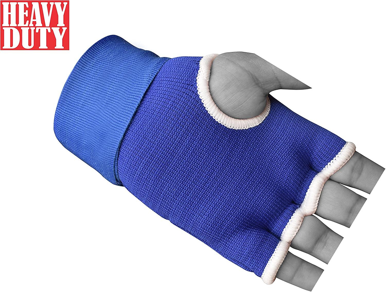RAD Pro Boxing Gel Gloves,MMA,Grappling Gloves with Hand Wraps,Inner Gloves,UFC (Blue, Medium)