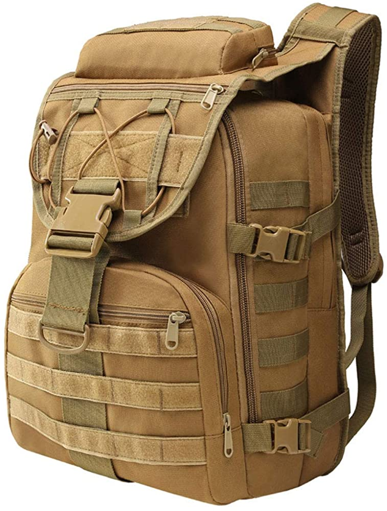 K-mover Outdoor Military Travel Backpack Tactical Water Resistant 3D Bag Large Capacity Molle System