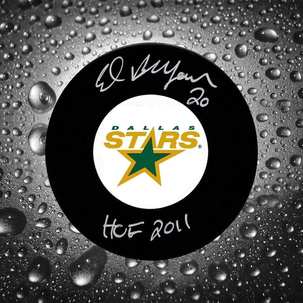 Ed Belfour Signed Puck - HOF - Autographed NHL Pucks