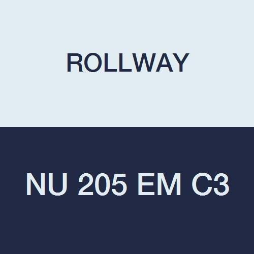 Rollway NU 205 EM C3 Cylindrical Radial Roller Bearing, 0.9843