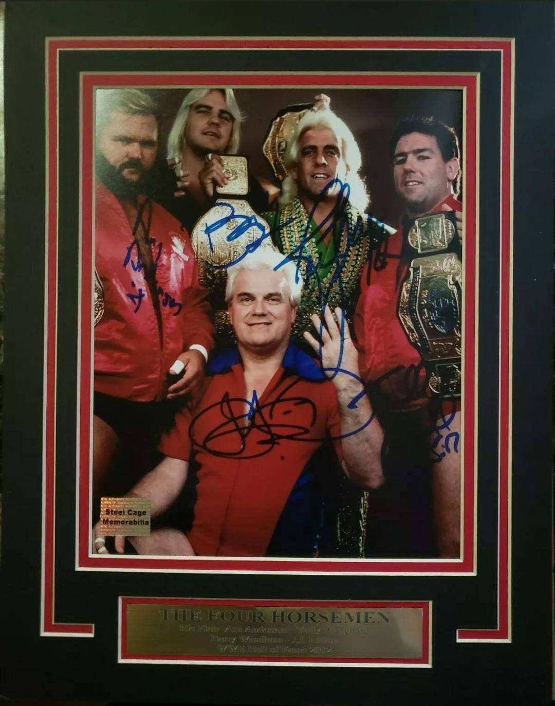 WWE WCW RIC FLAIR FOUR HORSEMEN 11X14 Matted Namplate PHOTO Autograph