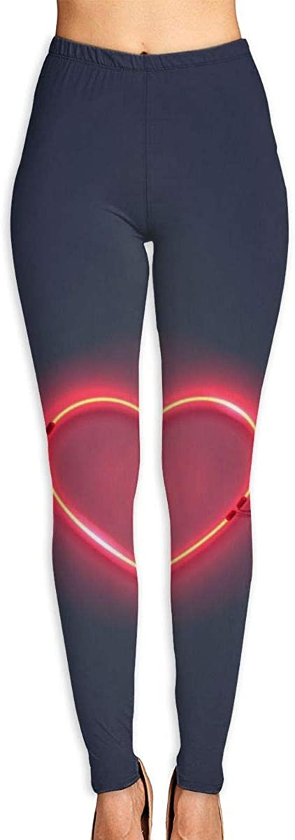 AUISS Girl Yoga Pants Leggings Heart Backlight Running Workout Fitness Long Trousers Sports Gym