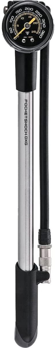 Topeak Pocket Shock DXG XL Long Version for Home/Shop use with dial Gauge 360 PSI/24.8 BAR