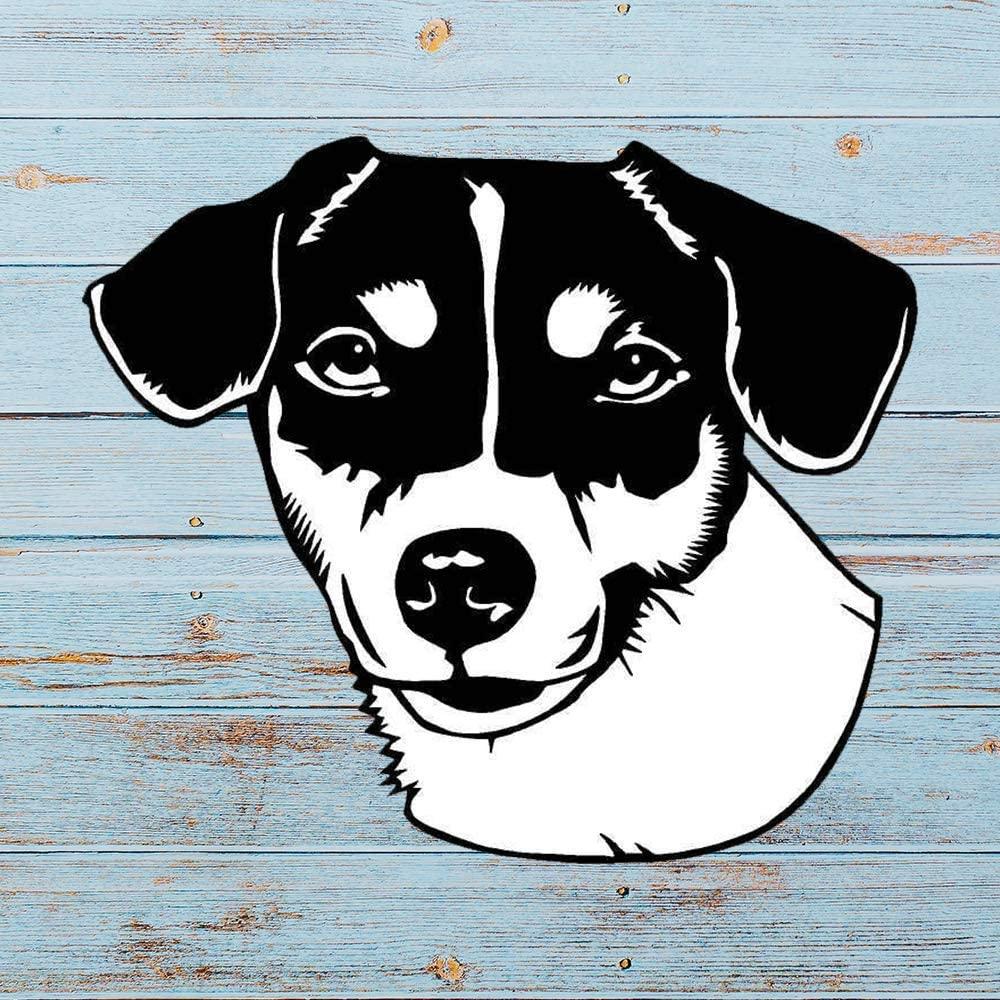 N/ A Jack Russell Terrier Vinyl Sticker Graphic Bumper Tumbler Decal for Vehicles Car Truck Windows Laptop MacBook Phone Wall Door