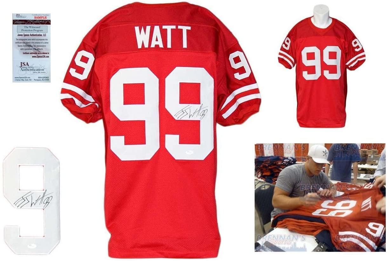 Signed J.J. Watt Jersey - JJ Witnessed College - JSA Certified - Autographed NFL Jerseys