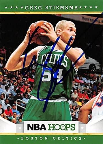 Greg Stiemsma autographed Basketball Card (Boston Celtics) 2012 Panini Hoops #257 - Unsigned Basketball Cards