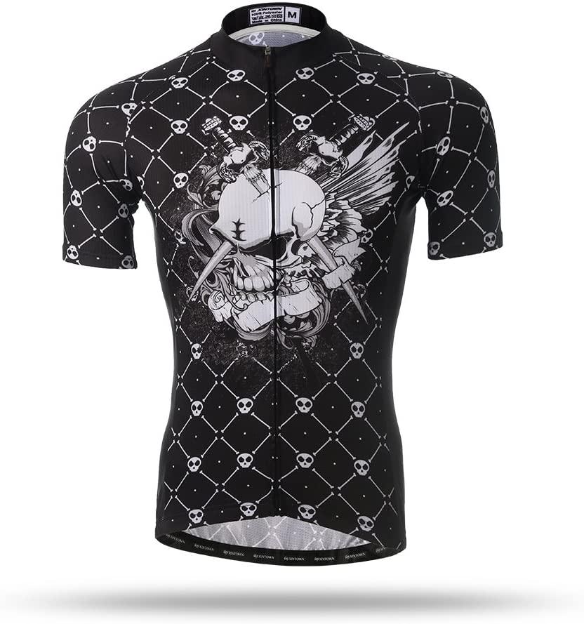 Xintow Men's Cycling Jersey Short Sleeve Sportswear Shirt 3D Silicon Padded Bicycle Bib Shorts Clothing black5