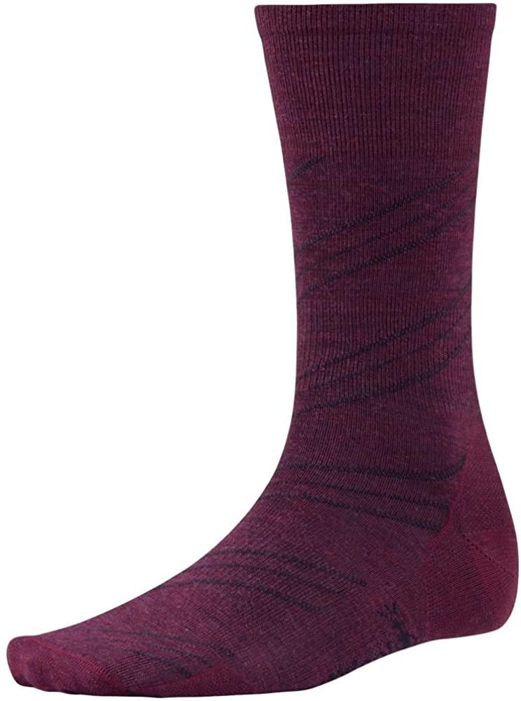 Smartwool Barber Pole Lifestyle Socks, Aub Heather, Large
