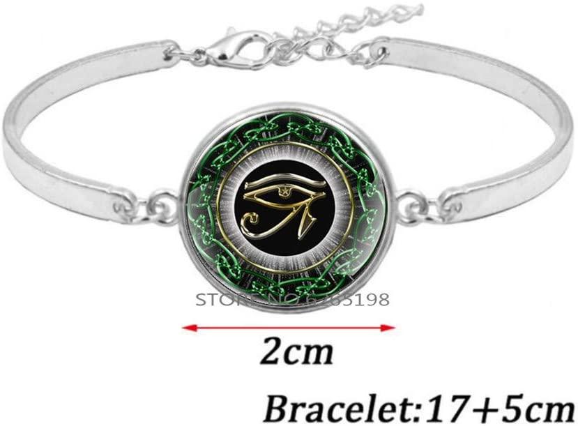 The Eye of Horus Bangle Bracelet,Men's Bracelet, Ancient Egyptian Symbol of Protection Charm, Women's Bracelet,N033