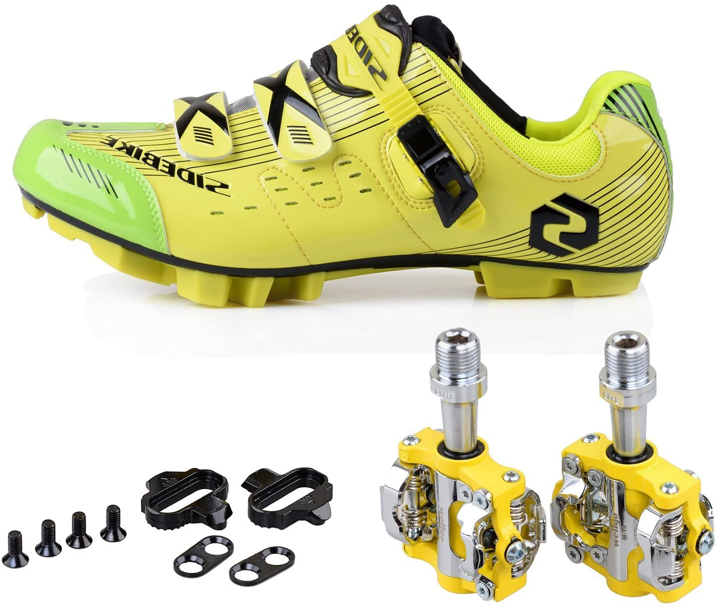 Mountain Bike Bicycle Cycling Shoes + Pedals & Cleats