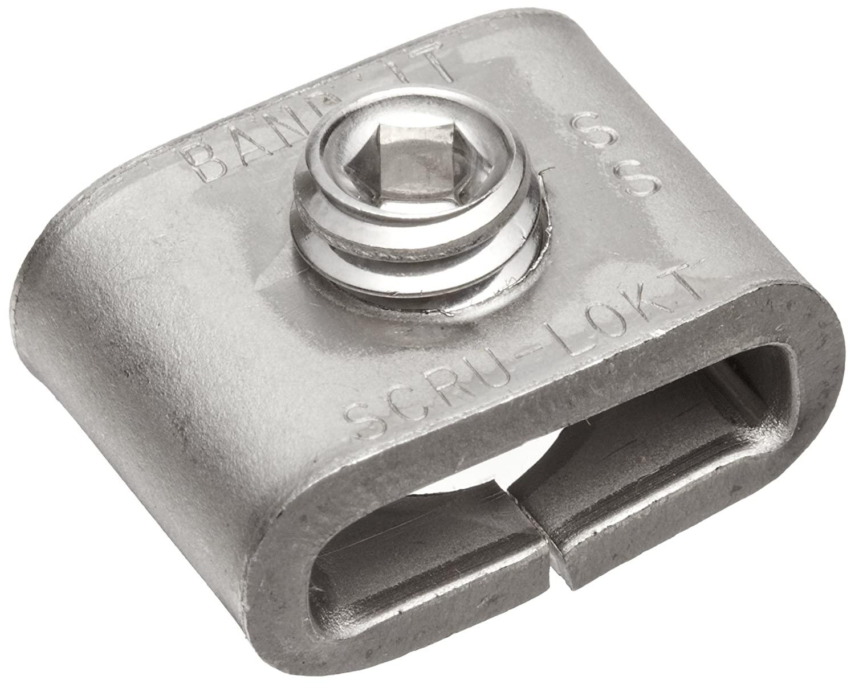 BAND-IT C72499 301 Stainless Steel 1/4 Hard Steel Scru-Lokt Buckle, 1/2
