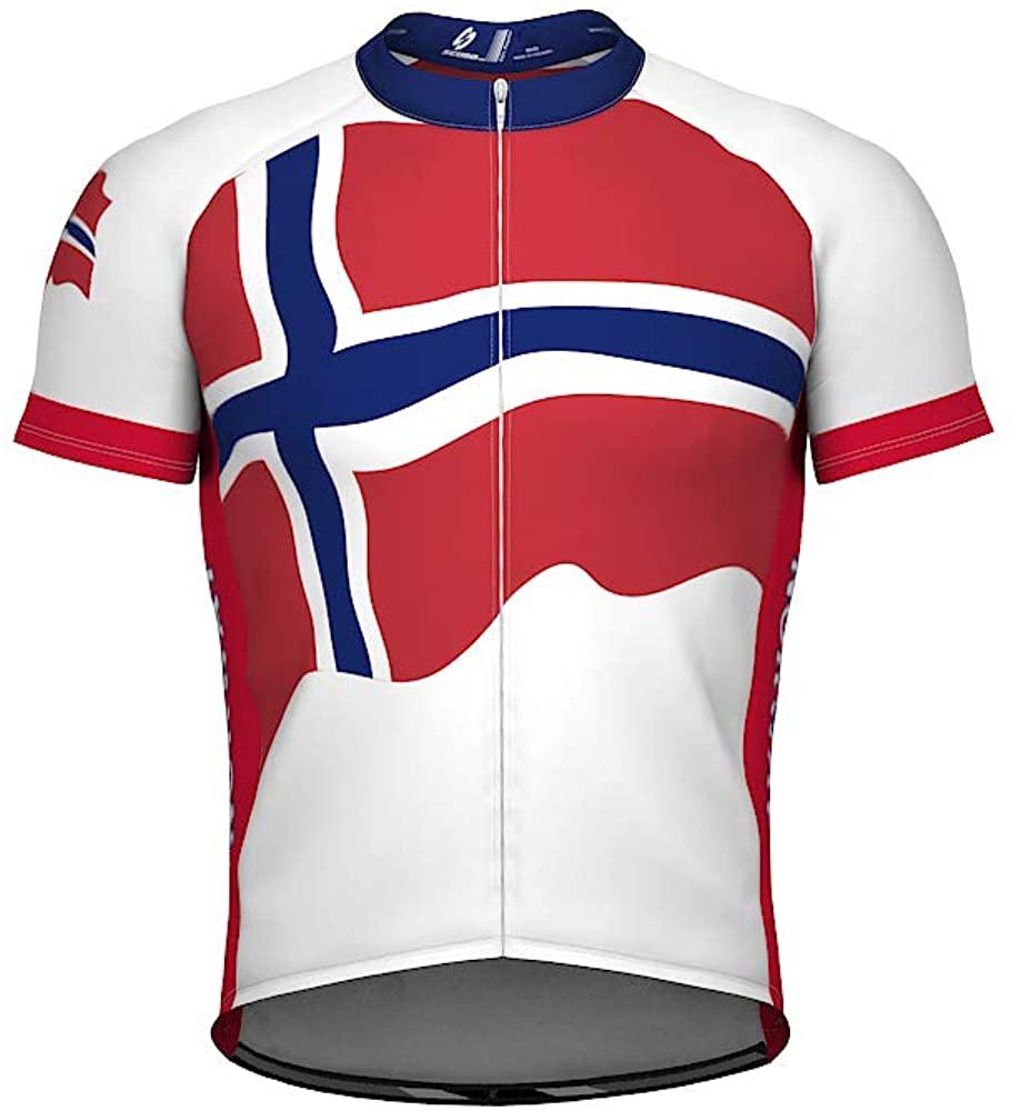 ScudoPro Norway Emblem Full Zipper Bike Short Sleeve Cycling Jersey for Women