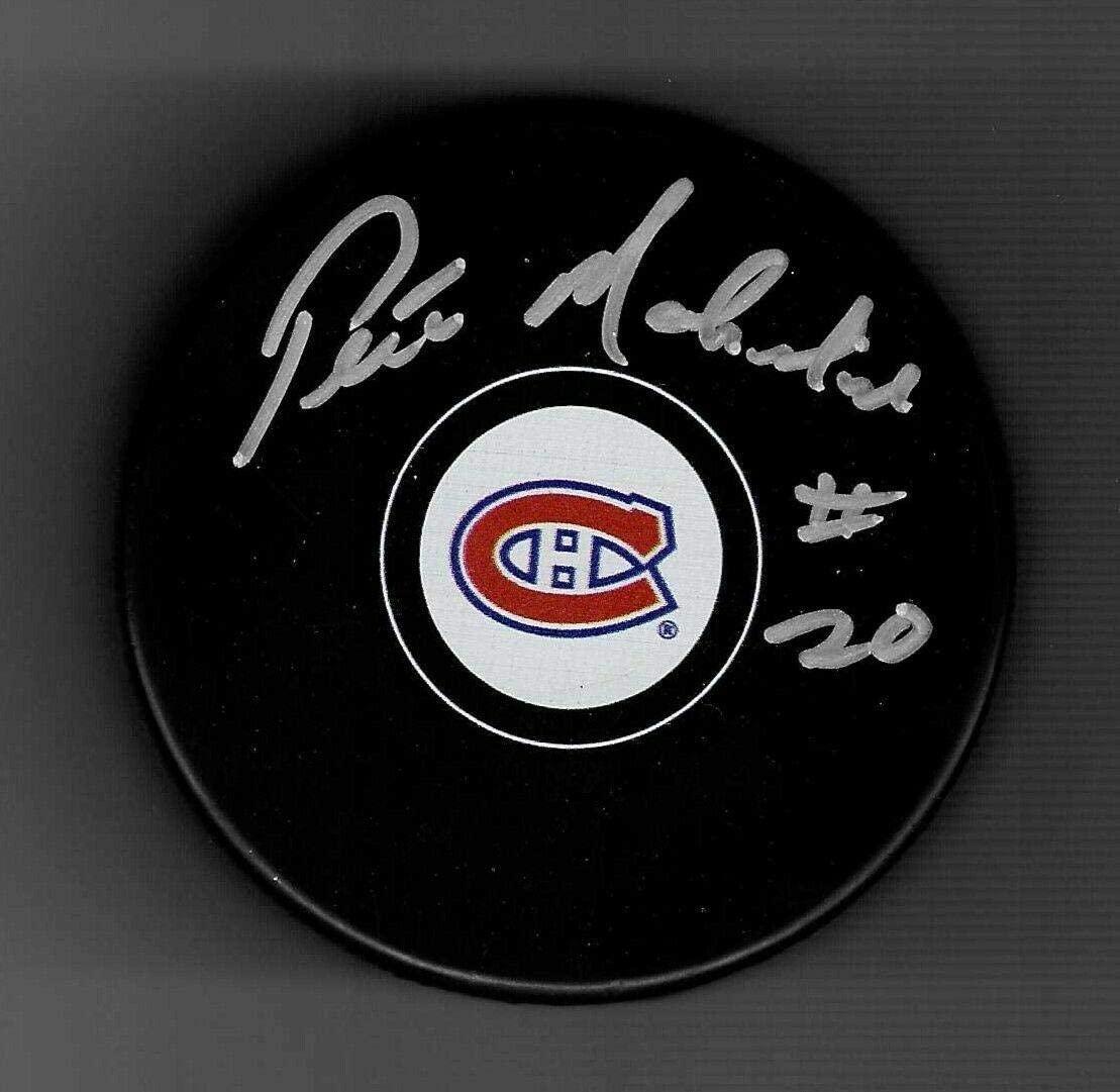 Pete Mahovlich Autographed Puck - Autographed NHL Pucks