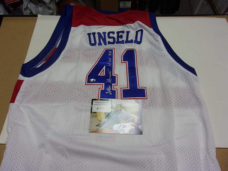 Autographed Wes Unseld Jersey - Hof 1988 W coa - Autographed NBA Jerseys