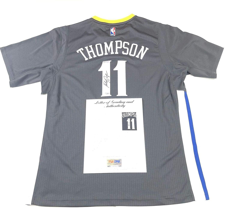 Klay Thompson Signed Jersey - PSA DNA Fanatics Grade 10 LOA - Fanatics Authentic Certified - Autographed NBA Jerseys