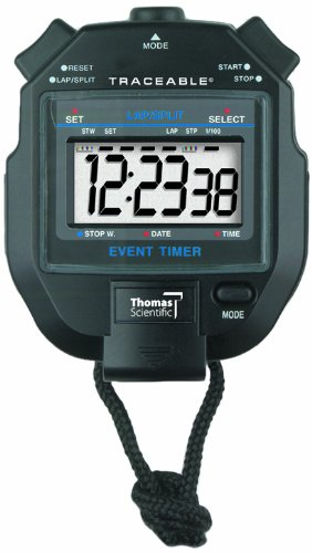 Thomas 1051 ABS Plastic Jumbo Digit Stopwatch with 1/2