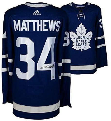 Auston Matthews Autographed Jersey - Blue Adidas FANATICS - Fanatics Authentic Certified - Autographed NHL Jerseys