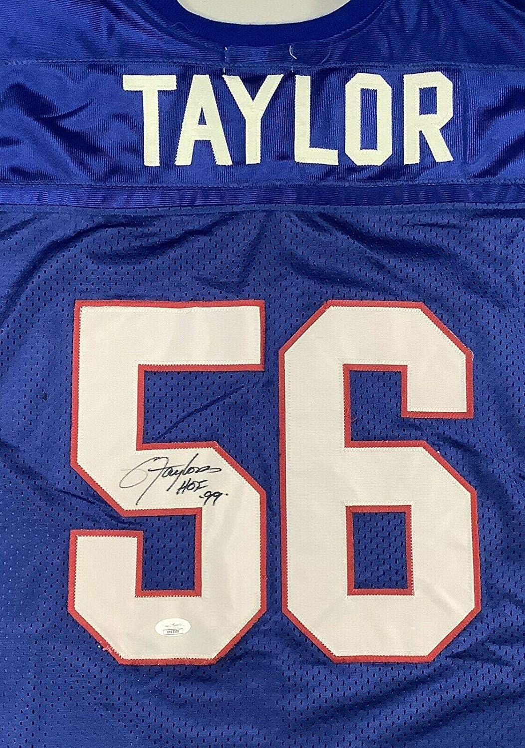 Lawrence Taylor Signed Jersey Authentic HOF 99 Autograph Giants Throwback - JSA Certified - Autographed NFL Jerseys